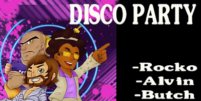 Disco Party - Golden Bite Games Scienart - Butch Alvin and Rocko
