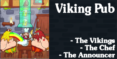 Viking Pub - Revan Games : the Vikings, the Chef, and the Announcer